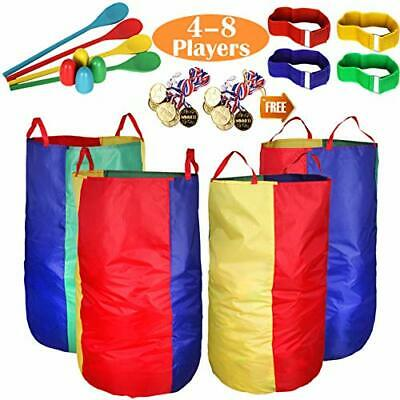 Outdoor Lawn Games Potato Sack Race Bags For Kids And Adults, With Egg And Spoon • 40.99£