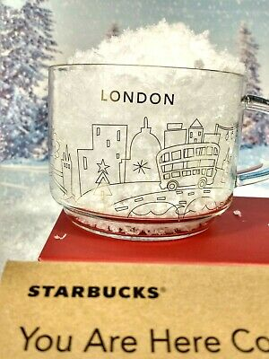 STARBUCKS  Limited Edition Glass London Mug You Are Here New In Box • 30£