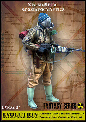 1/35 Scale Resin Figure Kit Stalker, Metro ( Postapocalyptic ) • 15.99£