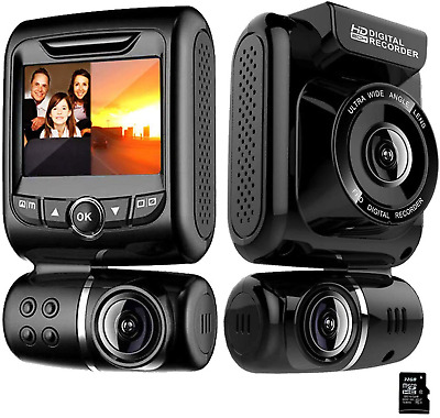 AU162.08 • Buy Dash Cam For Cars Front And Rear Dual Car Driving Camera Wifi Full HD 1080P With
