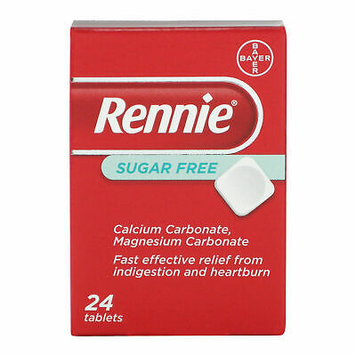 Rennie Sugarfree Indigestion Heartburn Relief Antacid 24 Tablets  • 2.99£