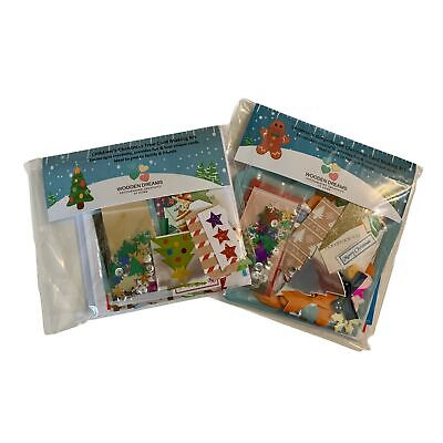 Children's Christmas Tree & Gingerbread Card Making Kits - 2 X Unique Kits Wi... • 23.99£