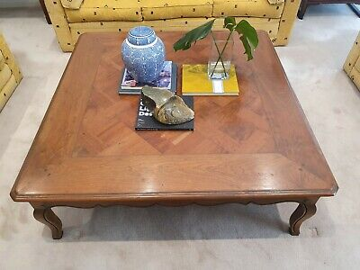 AU400 • Buy ANTIQUE VINTAGE FRENCH PROVINCIAL Style Coffee Table Parquetry Pattern