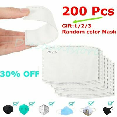 AU12.99 • Buy Face Mask & PM2.5 Activated Carbon Filter Replace Breath Insert Mask Filter 200x