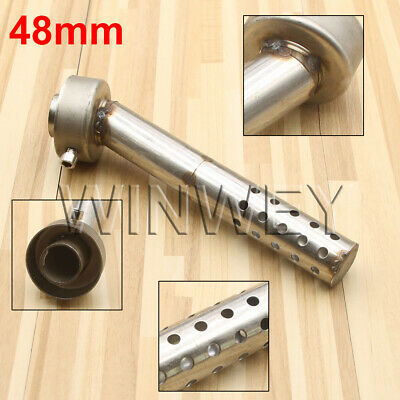 AU27.93 • Buy Motorcycle 48mm Angled Exhaust Muffler Insert Baffle Can Bend DB Killer Silencer
