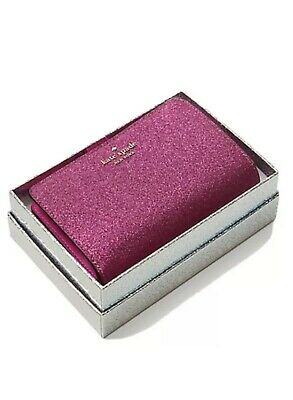 $ CDN89.30 • Buy Kate Spade Lola Pink Glitter Medium Compact Bifold Wallet With Box NEW Sparkle