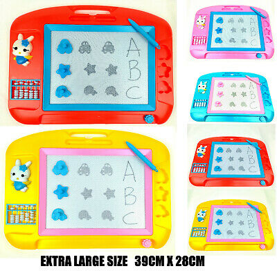 £3.99 • Buy NEW Extra Large Magic Writer Magnetic Writing Pen Drawing Slate Board Doodle Pad
