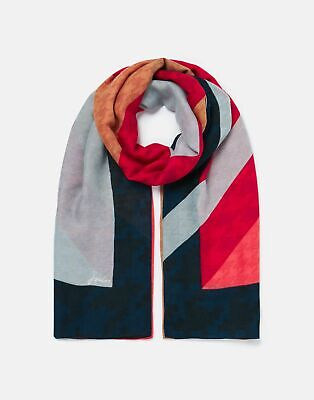 £12.95 • Buy Joules Womens River Printed Scarf - Multi Coloured Houndstooth - One Size