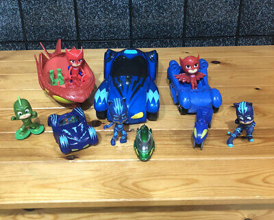 Pj Masks Toys Bundle🌟figures And Vehicles ,,Large Car Has Light & Sounds  • 8£