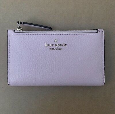 $ CDN62.52 • Buy KATE SPADE Jackson STREET MIKEY Small Slim Bifold Pink Leather WALLET New