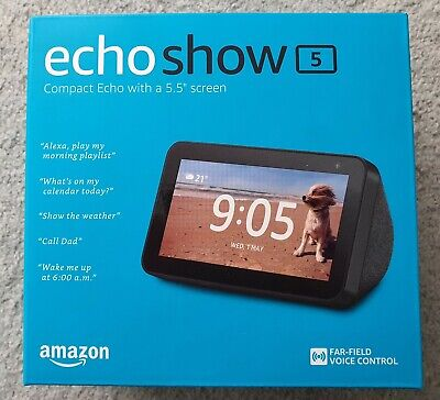 AU89 • Buy Echo Show 5 – Compact Smart Display With Alexa - Charcoal Fabric