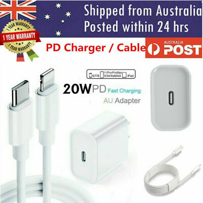 AU8.99 • Buy 20W USB Type-C Wall Fast Charger PD Power Adapter For IPhone 12 Pro Max 11 IPad