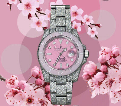 $ CDN738.80 • Buy Refined Rolex Submariner Pink Dial With A Complete Pink Bezel Set Cal 3135