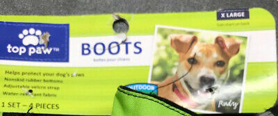 £5.66 • Buy Dog Boots Top Paw XLARGE Blue Winter Snow PREOWNED