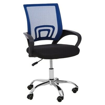 AU232.21 • Buy Blue Home Office Chair With Black Arms And 5-Wheeler Base
