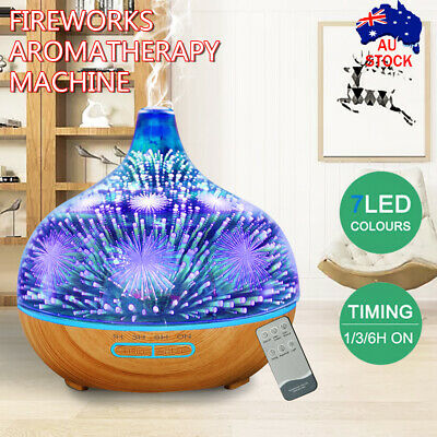 AU33.95 • Buy Firework 3D Aromatherapy Diffuser Aroma Essential Oils Ultrasonic Air Humidifier