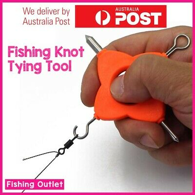 AU13.90 • Buy Fishing Knot Tying Tool Fishing Gear Hook Tying Tool Accessories