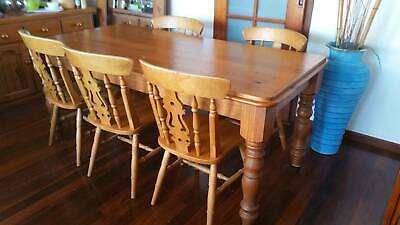 AU250 • Buy Rustic Likes Distressed 6 Seater Solid Wooden Dinning Table
