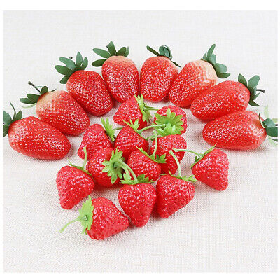 £4.28 • Buy Artificial Strawberry Fake Fruits Display Kitchen Home Food Table Fruit Décor