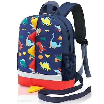 Mtophs Toddler Backpack With Reins Boys Dinosaur Nursery Backpack Dark Blue L • 27.99£