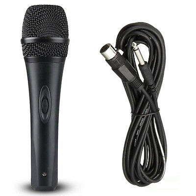 AU19.75 • Buy Dynamic Microphone + Mic Cables With Switch & Metal Mesh Vocal Karaoke Stage PA
