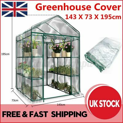 UK Garden Greenhouse Green Plant House Shed Storage PE Cover Roof (N • 22.86£