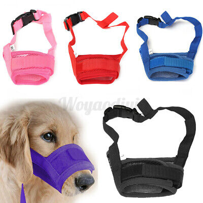 £5.05 • Buy UK Puppy Stop Chewing Barking Muzzle Safety Soft Adjustable Pet Dog Mouth