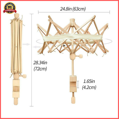 Wooden Winder Holder Umbrella Fiber String Wool Swift Yarn Thread Knitting Tools • 19.14£