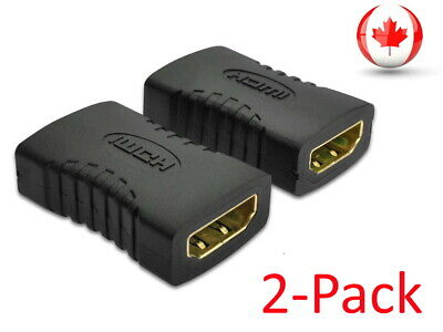 $ CDN4.49 • Buy HDMI Female To Female Coupler Connector Extender Adapter Cable HDTV1080P - 2pcs