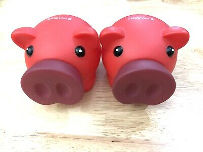 Bank Of East Asia Red Edition Big Nose Piggy Bank Money Box 2 Pack • 8.99£
