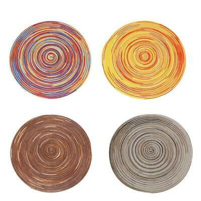 AU4.85 • Buy Braided Colorful Round Place Mats For Kitchen Dining Table Washable P4G7