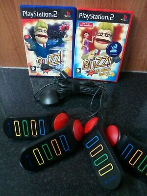 PlayStation 2 PS2 Buzz Controllers & Game Bundle- Tested - Family Entertainment  • 24.99£