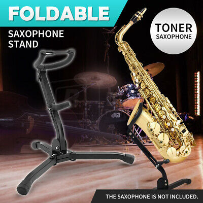 AU26.99 • Buy Saxophone Stand Tripod Folding Holder For Alto Tenor Sax Adjustable Portable X2