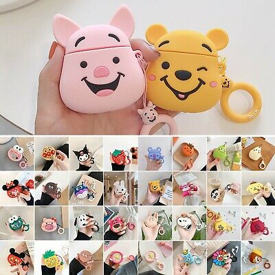AU13.96 • Buy Cute Cartoon Soft Silicone Case Earphones Protective Cover For Apple Airpod 1 2