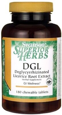 Swanson DGL Deglycyrrhizinated Licorice Root Extract 770mg 180 Chewable Tablets • 21.45£
