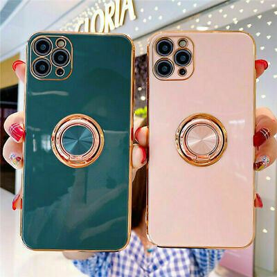 IPhone 12 Pro Max 12 Mini 11 XR 8 7 X Magnetic Shockproof Ring Holder Case Cover • 4.95£