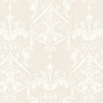 Fine Décor - Pearlescent Ivory & Cream Textured Floral Damask Feature Wallpaper • 7.99£