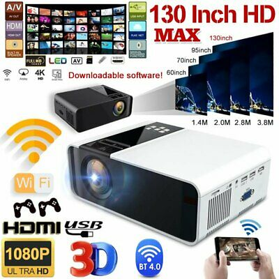 AU146.50 • Buy Portable HD 1080P Mini Wifi Bluetooth LED 3D Movie Projector Home Theatre HDMI