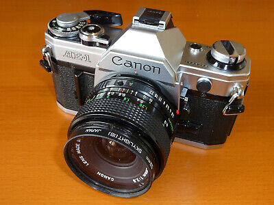 Vintage Canon AE-1 35mm SLR Film Camera With Canon FD 28mm F2.8 Lens. 40 Yrs Old • 250£