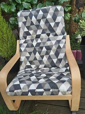 Ikea Poang Kids Chair Cover, Slipcover,children's Cushion,washable,padded • 18£