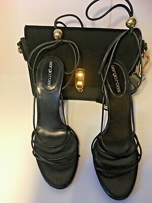Sergio Rossi Italian Design Heeled Leather Sandals Uk Size 4 • 39.99£