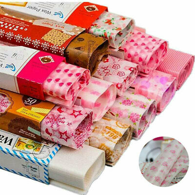 £4.95 • Buy Paper Dining Tool Greaseproof Wax Paper Food Wrapping Cake Packaging 50Pcs Good