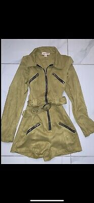 Ladies Lime Green Topshop Concession Honey Punch Playsuit Size XS RRP £59 • 0.99£