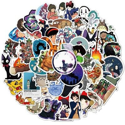$ CDN6.27 • Buy Anime Cartoon Stickers Pack Spirited Away Totoro For Luggage/Laptop Decal 50PCS