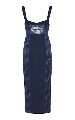 AU60 • Buy Bnwot Alice Mccall Indigo Loveland Midi Dress - Size 6 Au/2 Us (rrp $325)