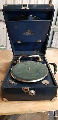 1930s Salon Decca Gramophone Model 75 - Very Rare Vintage Collectable • 60£