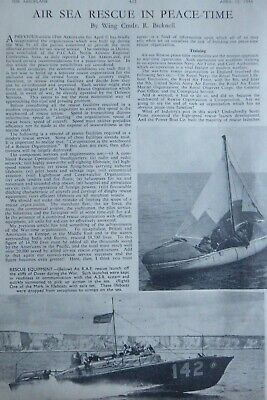 £8.51 • Buy 4/1946 Article + 2 Pages Air Sea Rescue In Peace Time Lifeboat Raf Launch Dinghy