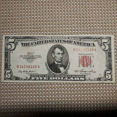 $ CDN24.24 • Buy 1953 United States Note $5 Red Seal Small Size United States Currency Note