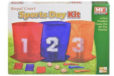 3 In 1 Sports Day Kit Sack Race Egg And Spoon Race Set Bean Bag Toss Fun Outd... • 28.99£