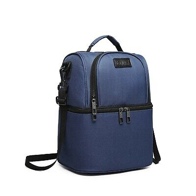 $ CDN44.08 • Buy Kono Insulated Lunch Bag Double Decker Cooler Reusable Leakproof Picnic Backp...